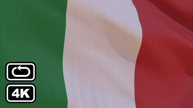 Italian Flag: Stock Motion Graphics
