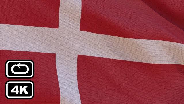 Denmark Flag: Stock Motion Graphics