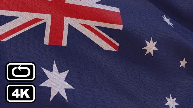 Australian Flag: Stock Motion Graphics
