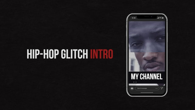 Hip-Hop Glitch Intro (Vertical): Premiere Pro Templates