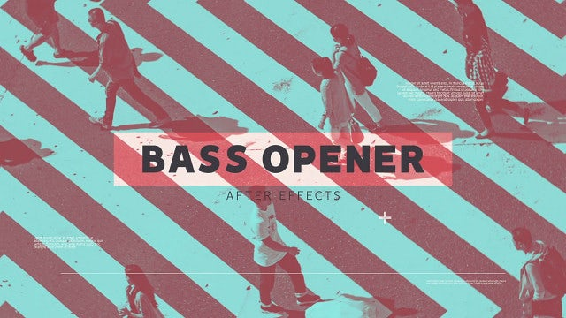 Stylish Bass Opener: After Effects Templates