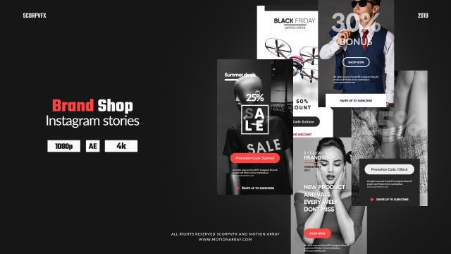 Instagram Stories - Brand Shop: After Effects Templates