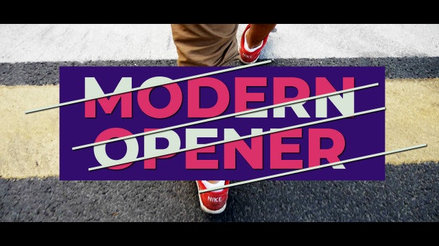 Modern Titles Opener: After Effects Templates