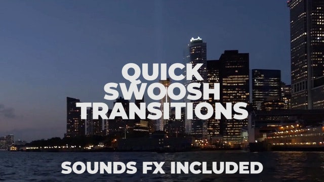 Quick Swoosh Transitions - Premiere Pro Presets | Motion Array