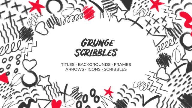 Grunge Scribbles: Premiere Pro Templates
