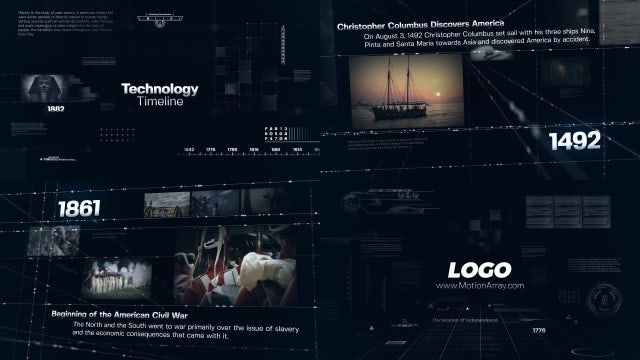 Technology Timeline: After Effects Templates