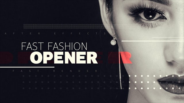 Fast Fashion Opener: After Effects Templates