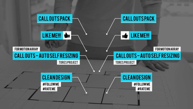Call Outs Auto Self Resizing: After Effects Templates