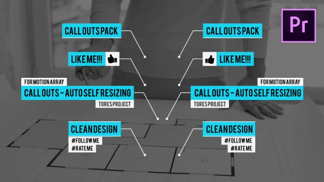 Call Outs Auto Self Resizing: Motion Graphics Templates