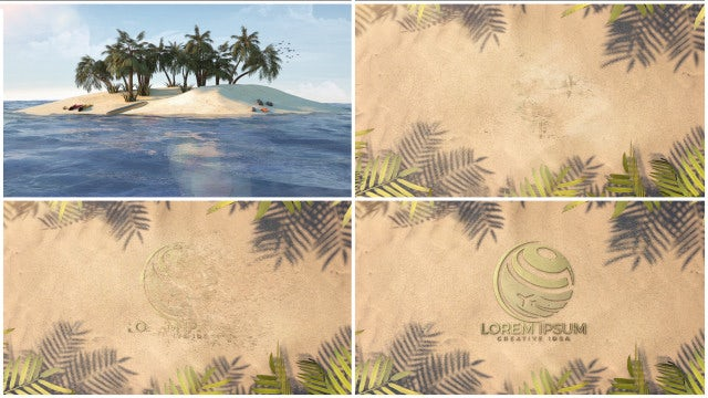 Summer Tropical Logo: After Effects Templates