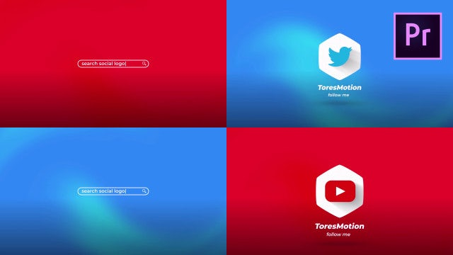 Search Social Logo: Motion Graphics Templates