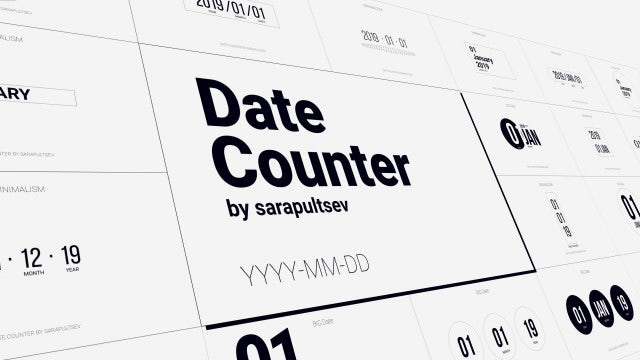 Date Counter: After Effects Templates
