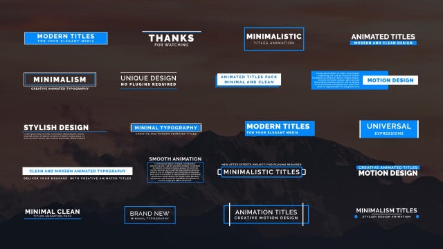 20 Animated Titles IV: Premiere Pro Templates