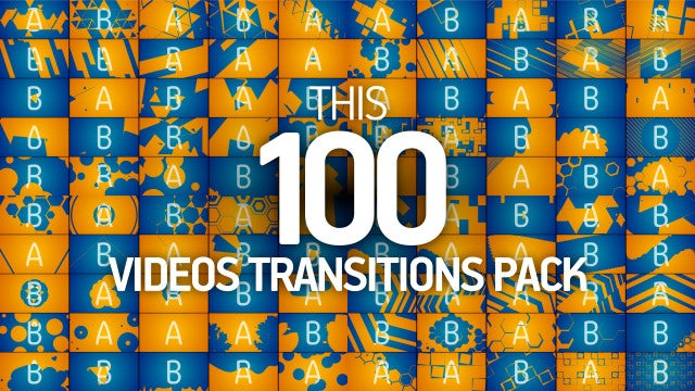 100 Transitions Pack: Stock Motion Graphics