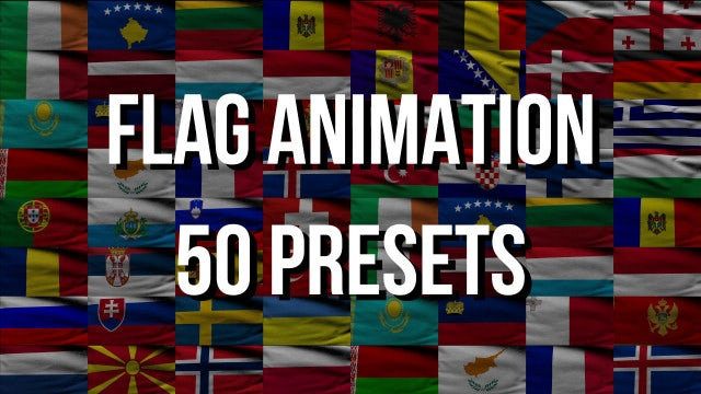 Flags Animation Pack: Stock Motion Graphics