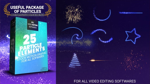 25 Particle Elements: Stock Motion Graphics