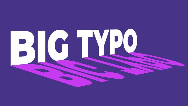 Big Typo: After Effects Templates