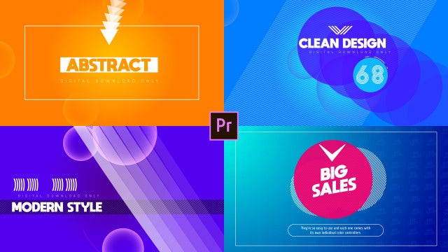 Big Modern Titles: Motion Graphics Templates