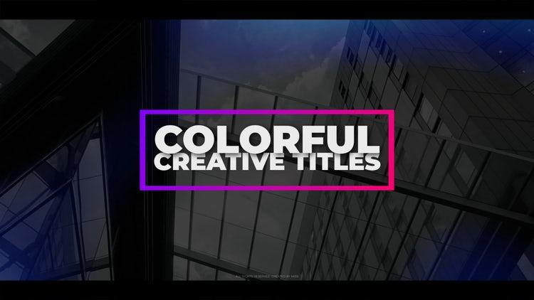 Colorful Creative Titles: Premiere Pro Templates