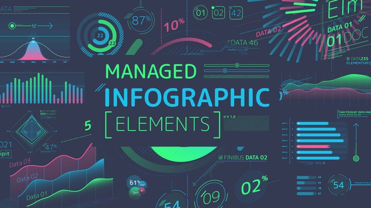 Managed Infographic Elements: After Effects Templates