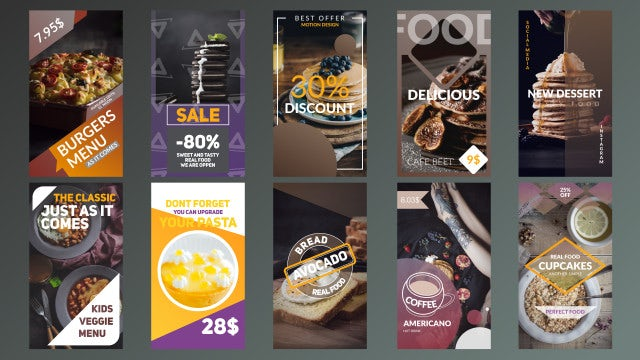 Food Stories: Motion Graphics Templates