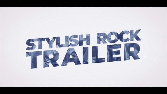 Stylish Rock Trailer: After Effects Templates