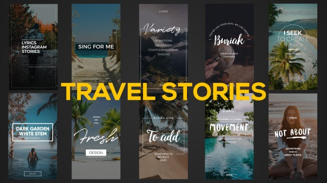 Travel Stories: Motion Graphics Templates