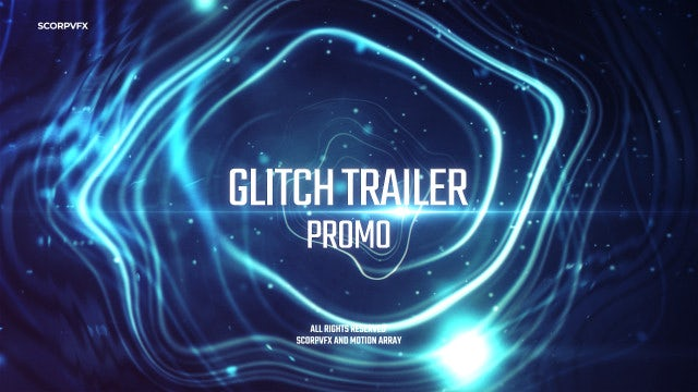Glitch Trailer Promo: After Effects Templates