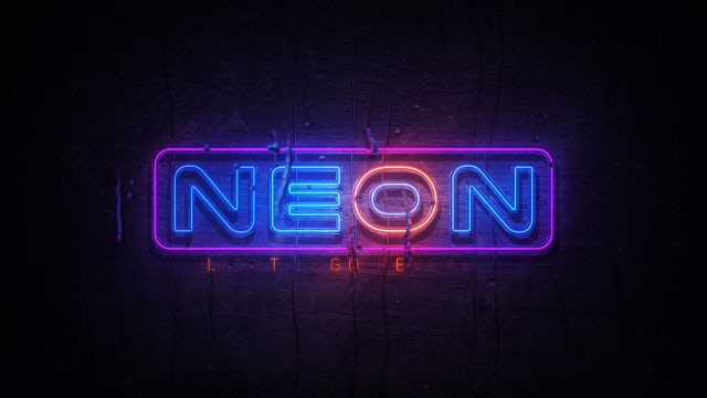 Realistic Neon Logo: After Effects Templates