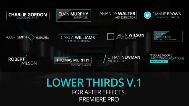 Lower Thirds V1: Motion Graphics Templates