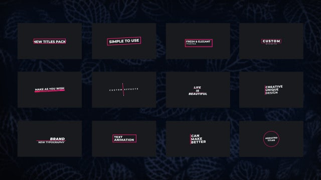 Creative Title V2: Premiere Pro Templates