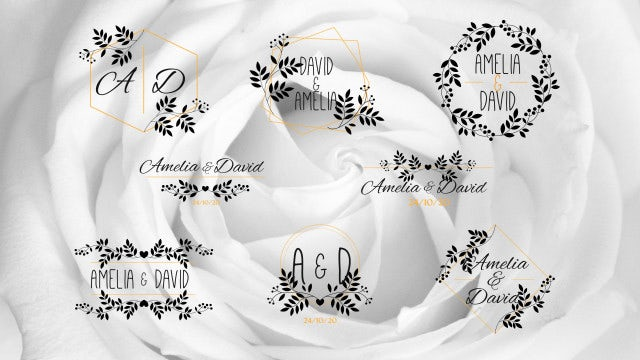 8 Elegant Wedding Titles: Motion Graphics Templates