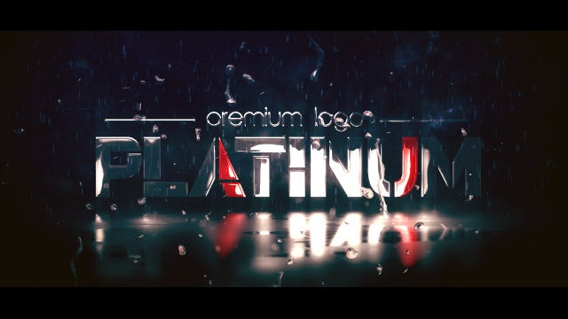 Platinum Logo Reveal: After Effects Templates