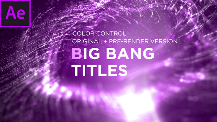 Big Bang Titles: After Effects Templates