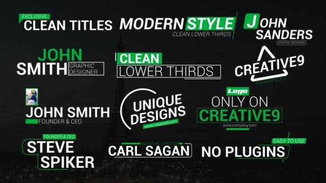 Motion Array Clean Lower Third Titles: After Effects Templates