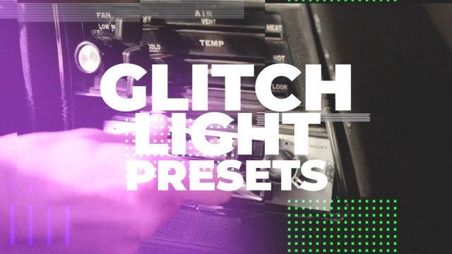 Glitch Light Presets: Premiere Pro Presets