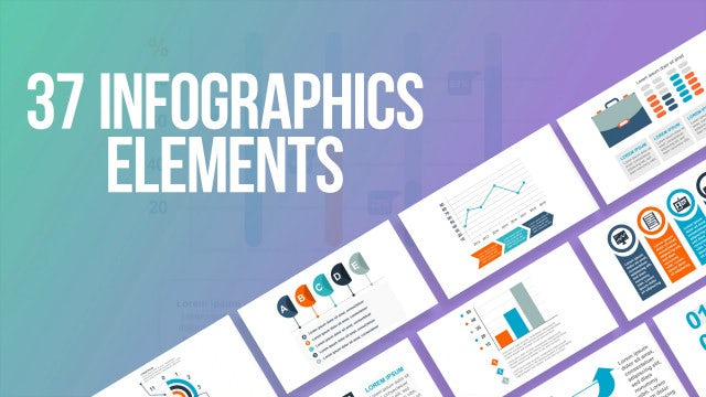 37 Infographics Elements: After Effects Templates