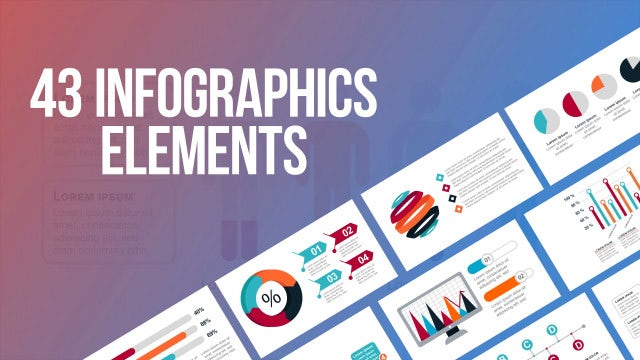 43 Infographics Elements: After Effects Templates