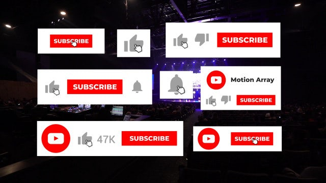 YouTube Subscribe Like Notification: Motion Graphics Templates