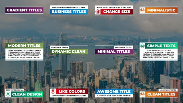 Gradient Titles: After Effects Templates