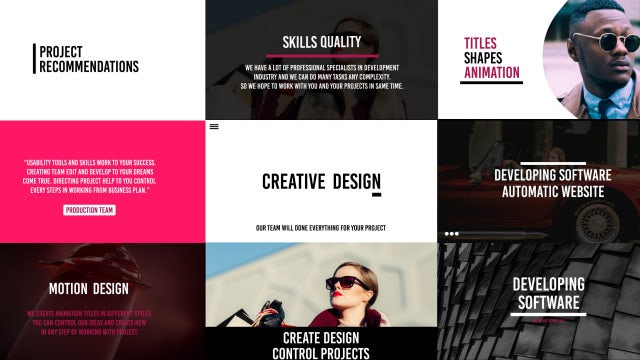 4k Typography: Premiere Pro Templates