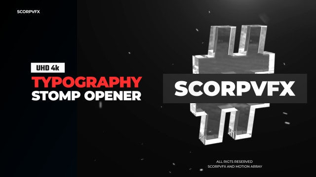 Typography Stomp Opener: After Effects Templates