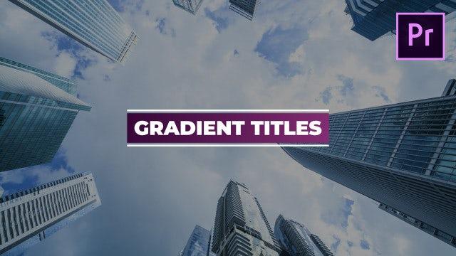 Gradient Titles: Motion Graphics Templates
