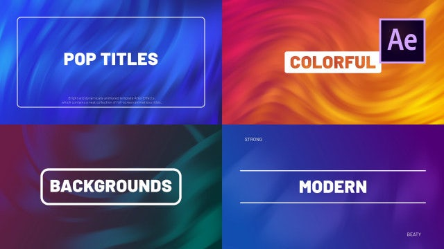 Pop Titles: After Effects Templates
