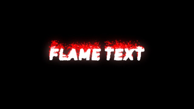 Flame Text Animation: After Effects Presets