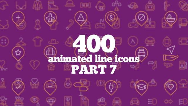 400 Animated Line Icons (Part 7): After Effects Templates