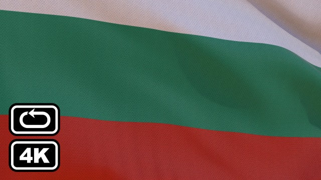 Bulgaria Flag: Stock Motion Graphics
