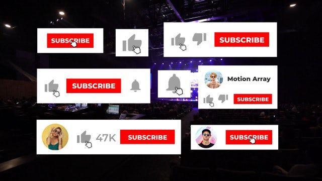 YouTube Subscribe Like Notification: After Effects Templates