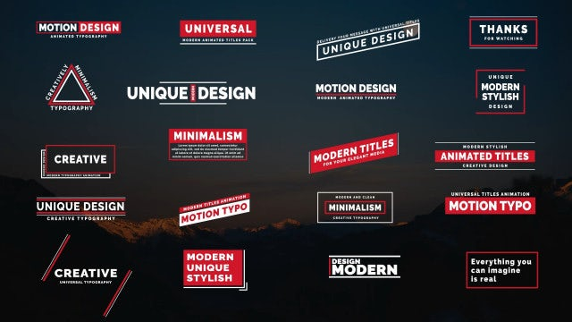 Creative Typo III: After Effects Templates