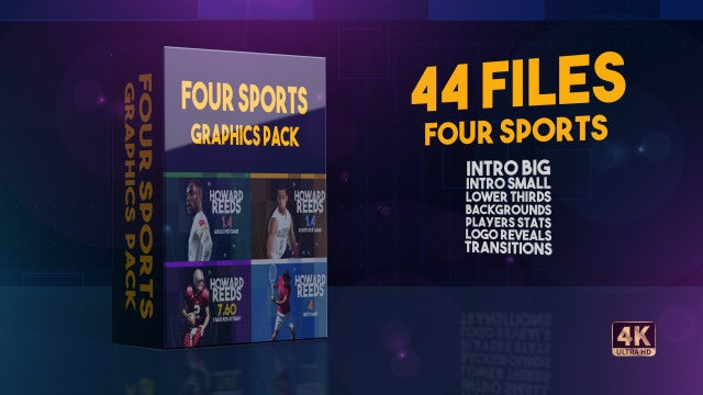 Four Sports Graphics Pack: After Effects Templates